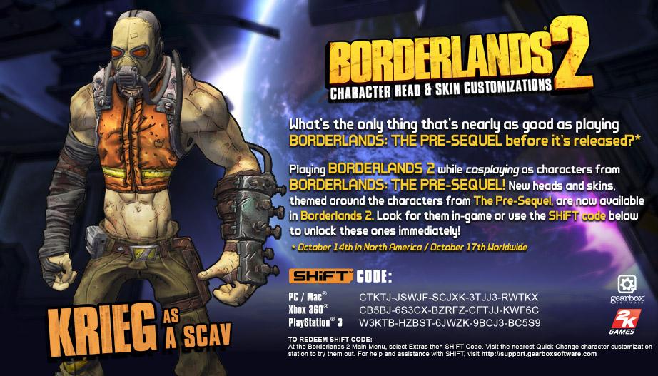 Steam community guide borderlands 2 pre sequel shift codes