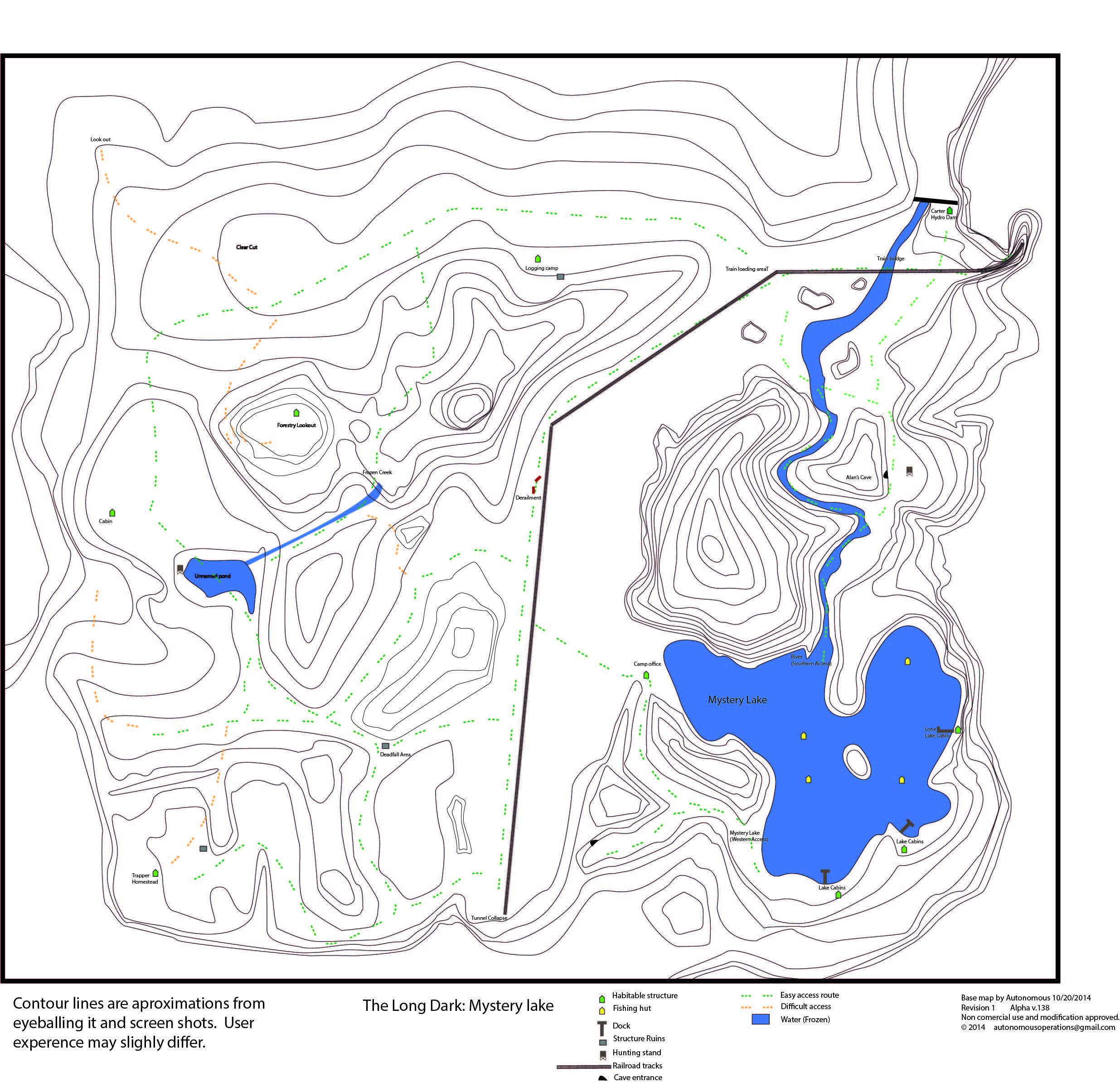 Steam community guide the long dark topo maps w bunker locations