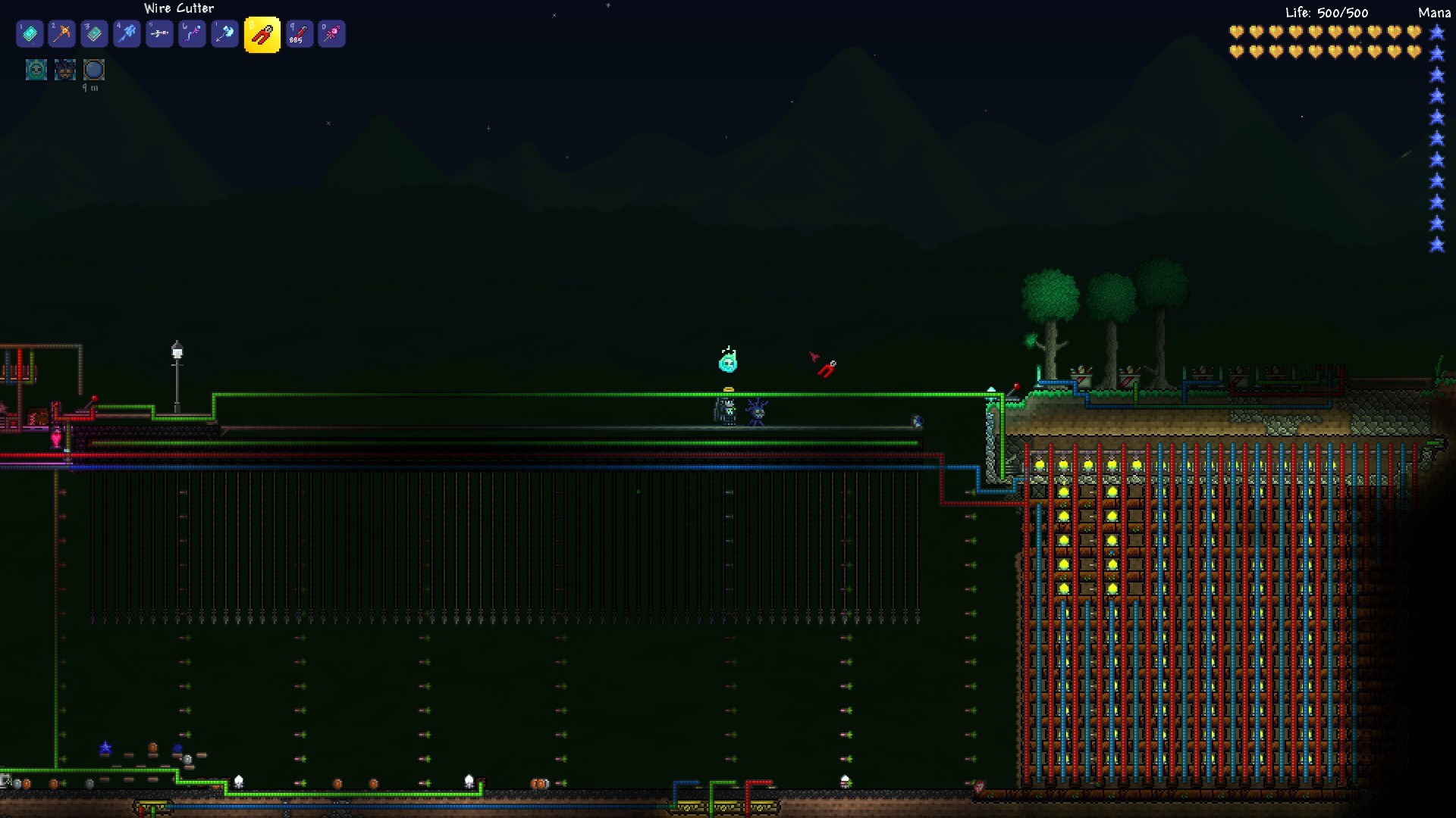 Arenas Post Yours Terraria Wiring Heart Statues Mage Arena Super Dart Traps