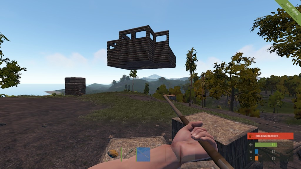 Pleas make floating buildings fall down  - Rust - Facepunch