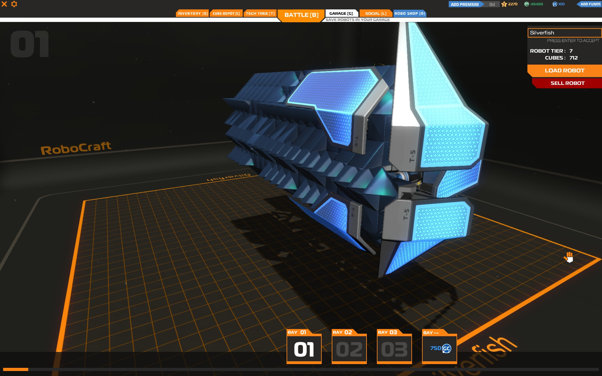 ROBOCRAFT | Topic: [Prototype] Shield Wall concept bot.
