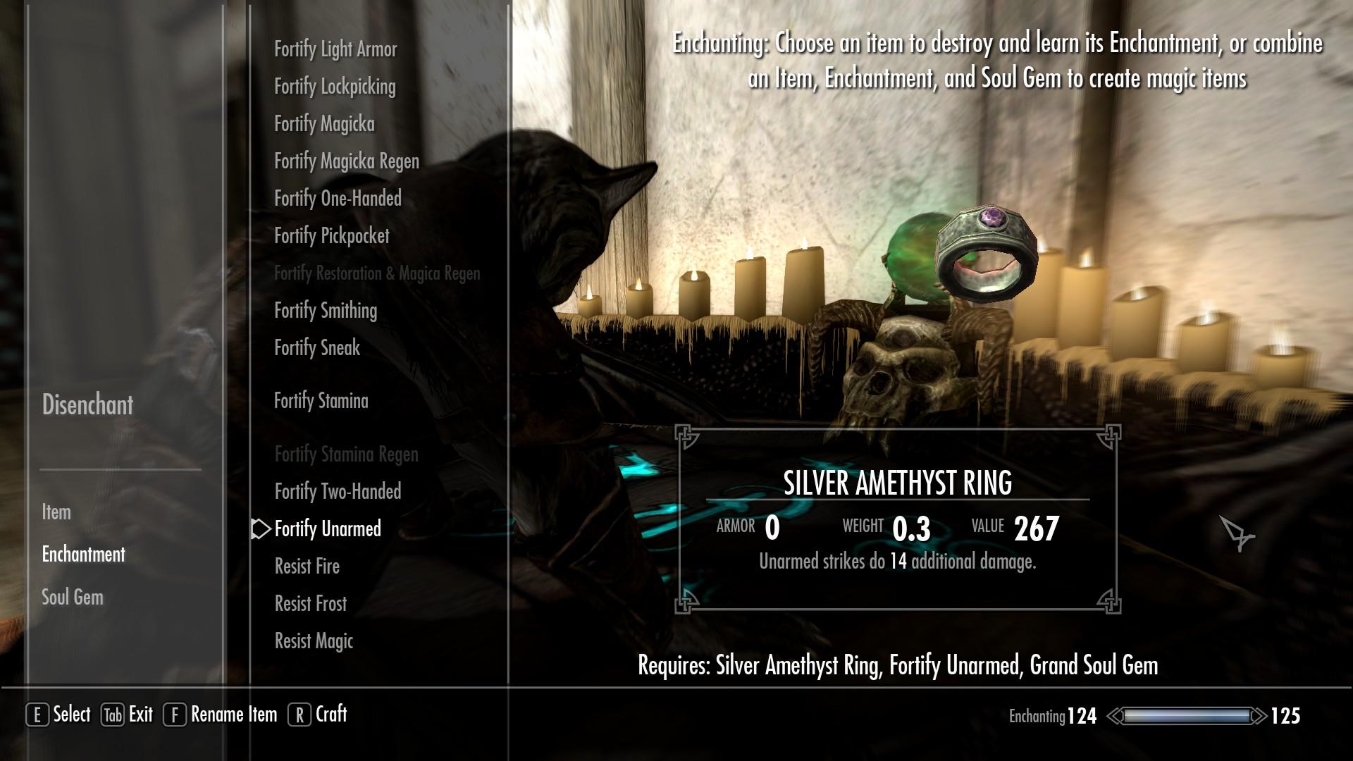 Skyrim Enchantment Ring
